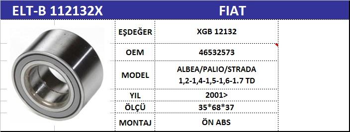 AKS BİLYASI ÖN B112132X AX PALIO-II ALBEA ABSLİ (XGB12132S02P) (35X68X37)