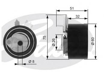 GERGİ KÜTÜĞÜ T43014 KANGO (05-) 1.5 DCI MEGANE-II 1.5 DCI