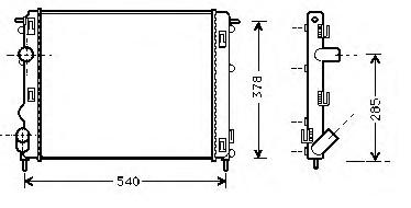 RADYATÖR 0528292AL CLIO-II KANGO LOGAN 1.5 DCI 1.6 16V K4M (2SIRA AL+PL)