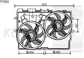 FAN MOTORU +DAVLUMBAZ 348490 DUCATO-III 2.3JTD 06-> BOXER JUMPER