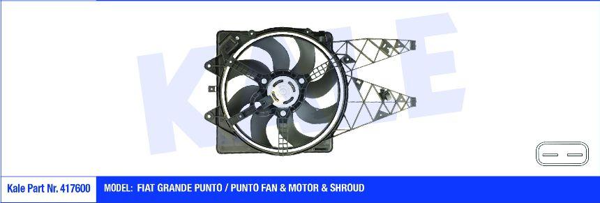 FAN MOTORU 417600 GRANDE PUNTO 1.3D 05-> DAVLUMBAZLI