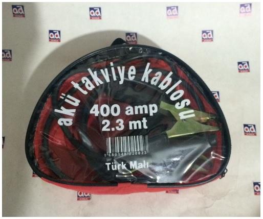 AKÜ TAKVİYE KABLOSU 400 AMPER