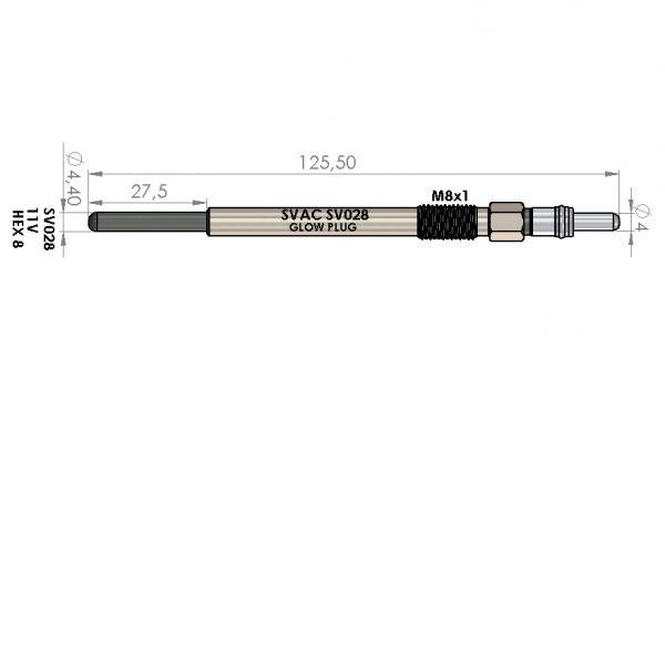 ISITMA BUJİSİ SV028 P307 P407 1.6 HDI FOCUS-II 1.6TDCI