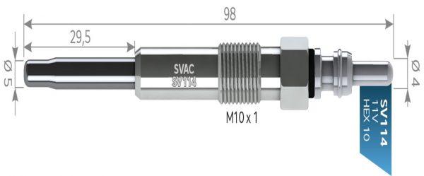ISITMA BUJİSİ SV114 FRONTERA 2.5TDİ ROVER 825 2.5SD VOYAGER 2.5TD ALFA155-164