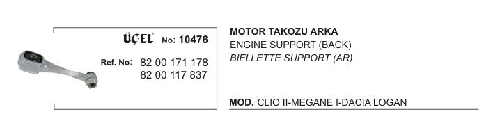 BURGULU MOTOR TAKOZU 10476 CLIO-II KANGO R19 MEGANE-I DACIA LOGAN