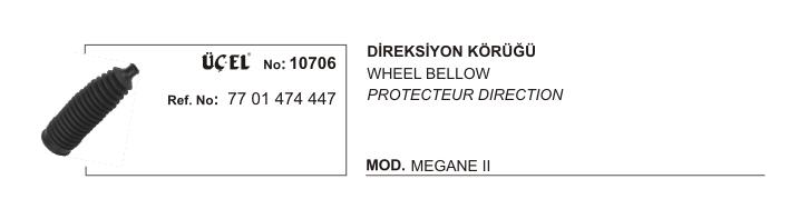 DİREKSİYON KÖRÜĞÜ 10706 MEGANE-II DACIA LOGAN 7701474447