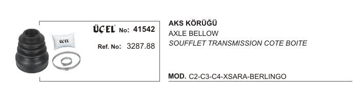 AKS KÖRÜĞÜ 41542 P206 P306 P307 PARTNER BERLINGO C2 C3 C4 SAXO XSARA 3287.88