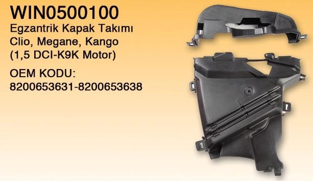 EKSANTRİK KAPAK TAKIMI 0500100 KANGO CLIO MEGANE-II 1.5 DCI K9K